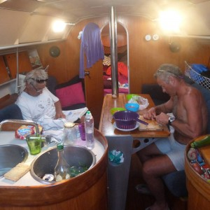 vie à bord de Pirates, notre voilier first 35 S 5