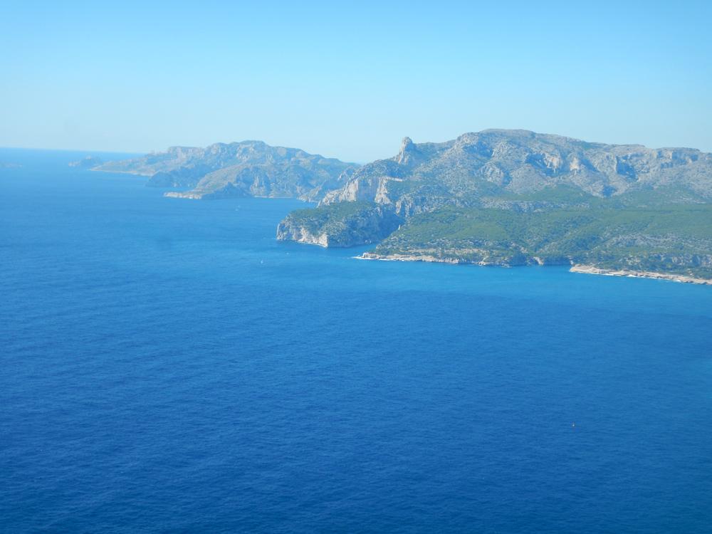 La mer s'est calmée, nous allons pouvoir rejoindre la Calanque d'En Vau.