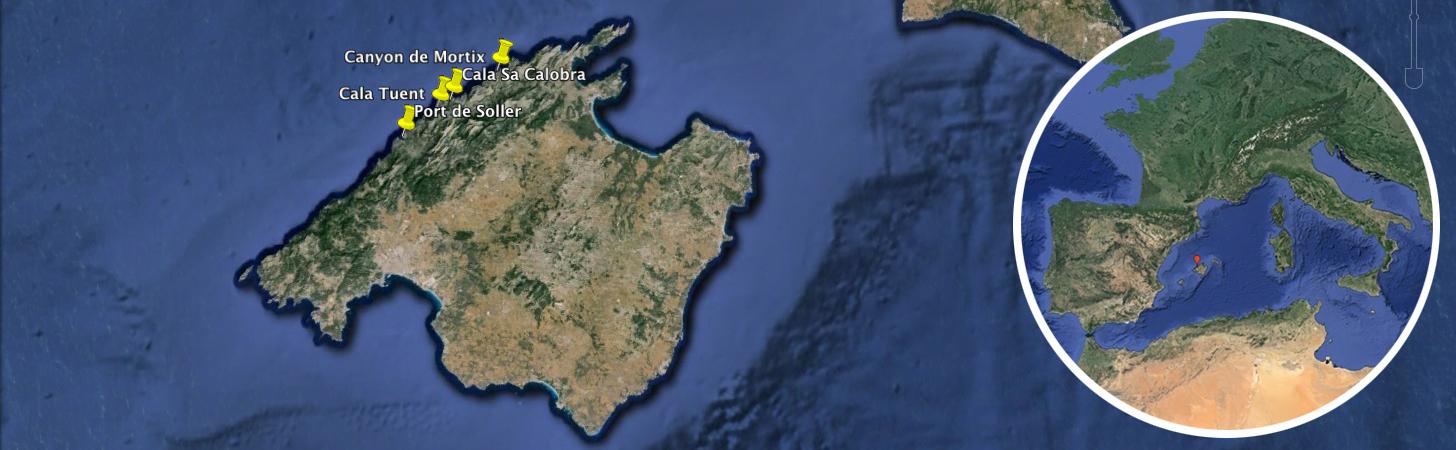 Carte séjour voile et canyonning à Majorque