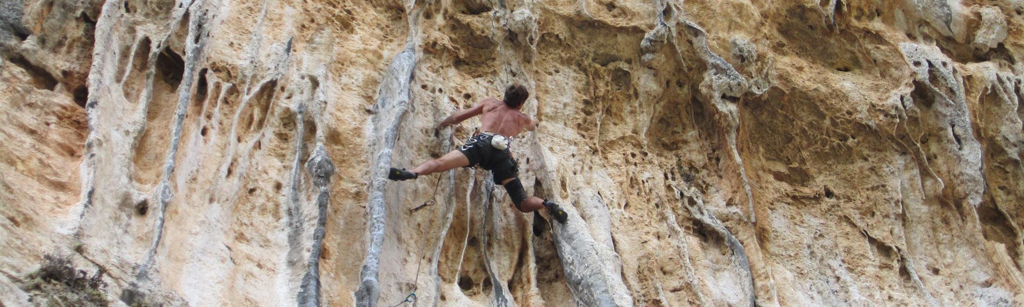 Escalade en falaise Grèce