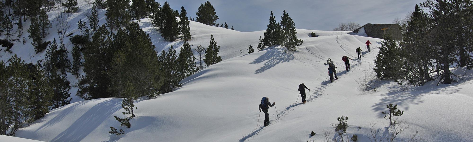 Séjour raquettes à neige dans les Encantats
